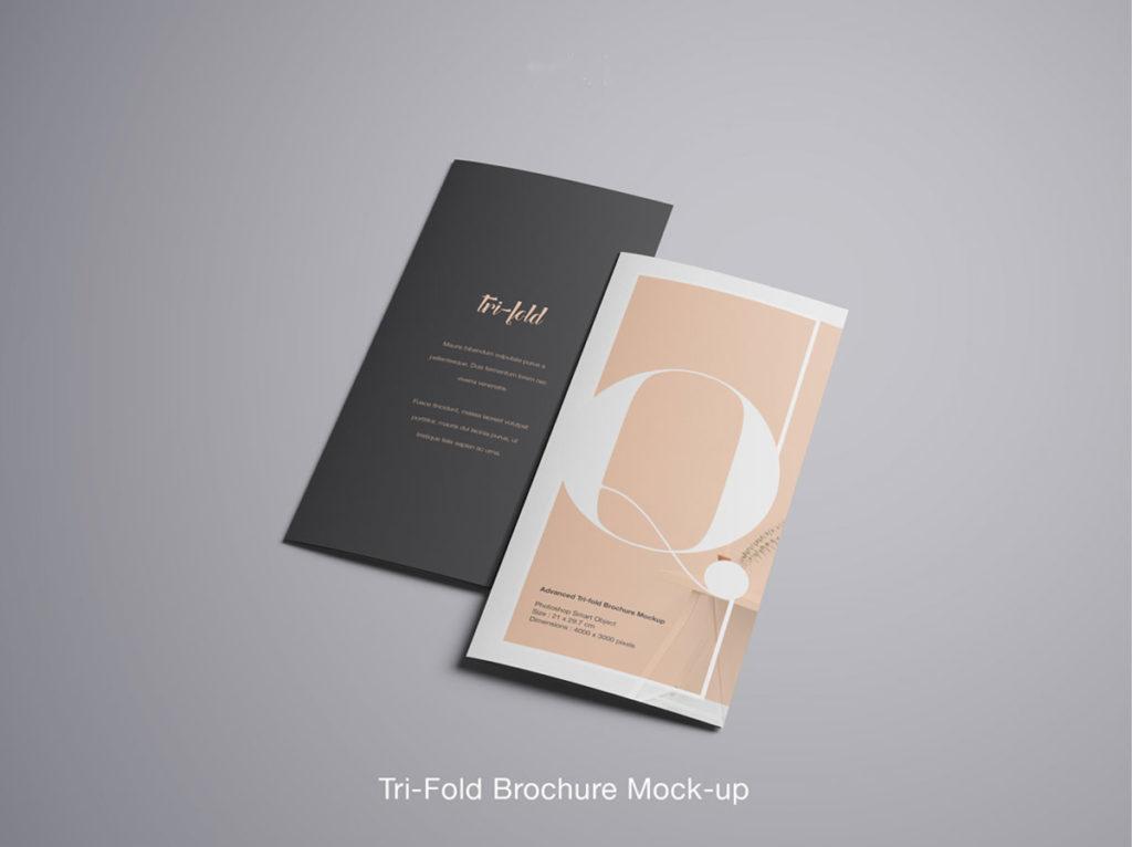 Advanced Trifold Brochure Free PSD Mockup Pixlov - Tri Fold Brochures Free