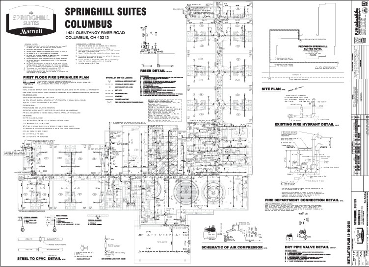 PJH Fire Sprinkler Design, LLC Sample Drawings