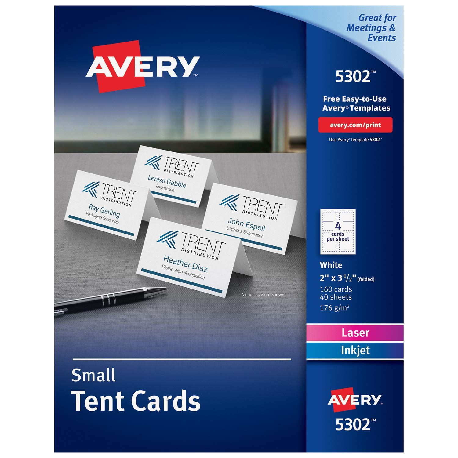 avery name card template