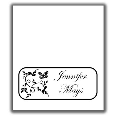 Butterfly Place Cards - place card template