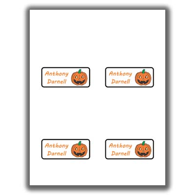 Halloween Place Cards - 2 - 4up template