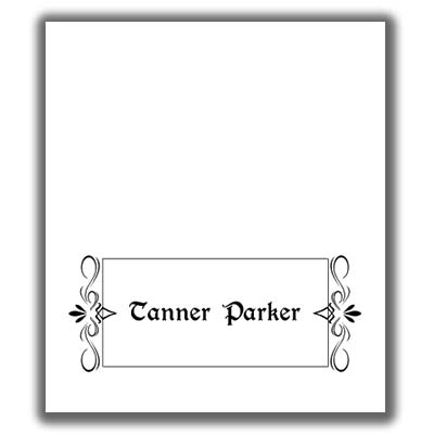 Place Card Template 2 - place card template