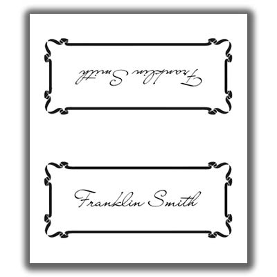 Place Card Template 5 - place card template