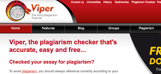 Viper Plagiarism Checker Posting Your Essays on Essay Mills