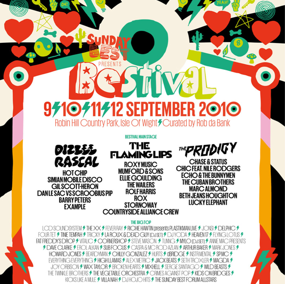 Bestival Festival Poster Festival and Gig Posters Pinterest - concert ticket template free download