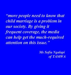 Tanzania - The Media's Role in Child Marriage