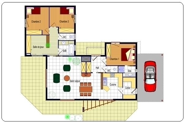 plan-maison-moderne-plain-pied-jpg (604×403) Plans Pinterest