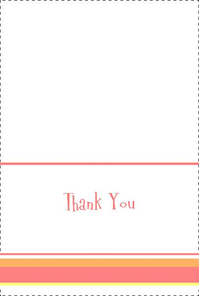 printable thank you note template - Maggilocustdesign - free thank you card template