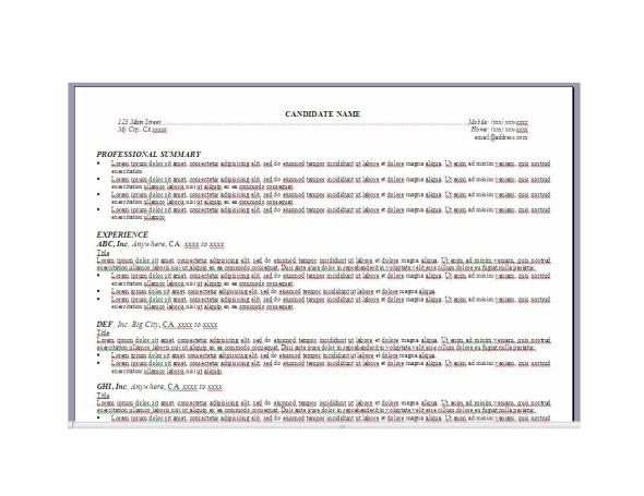 Resume Formatting «