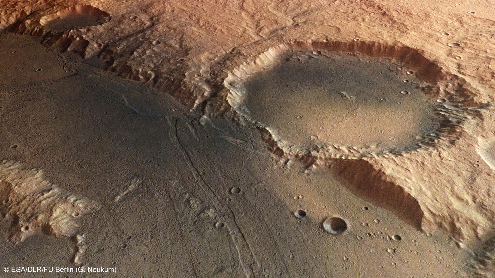 3d Perspective Wallpaper Hrsc Image Series 586 Hesperia Planum Mars Express