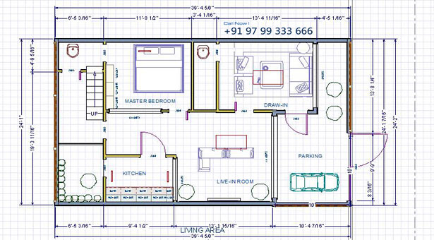 North Facing House. Vastu Plan