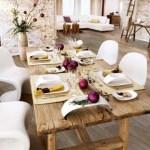 decoración de mesa estilo rústico