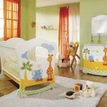 habitación de bebé con animales