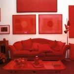 Habitación en color rojo