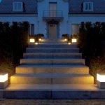 Iluminación exterior con modernas lámparas