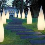 Lámparas cónicas para jardín