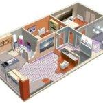 Boceto de casa con suelo radiante