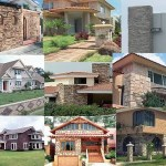 Casas con fachadas de piedra