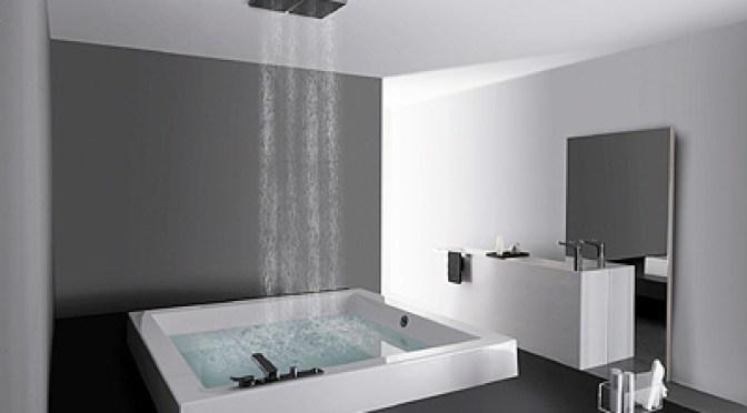 Moderna ducha de estilo minimalista