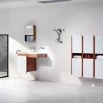 Baño con muebles de estilo minimalista