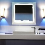 Lavabo minimalista y apliques de pared
