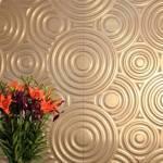 Paneles decorativos con textura de círculos