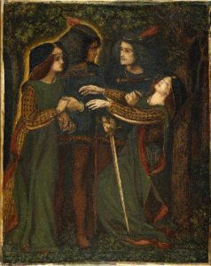 'How They Met Themselves', Dante Gabriel Rossetti The Fitzwilliam Museum.