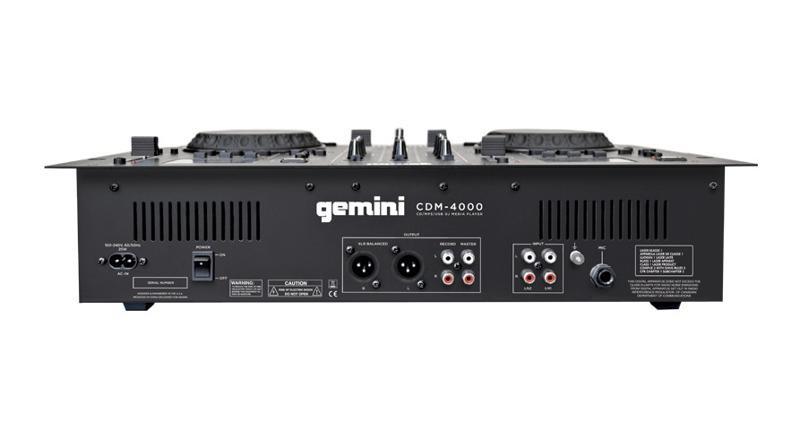 Gemini Cdm 4000 Cd Mp3 Usb Dj Media Player Planet Dj