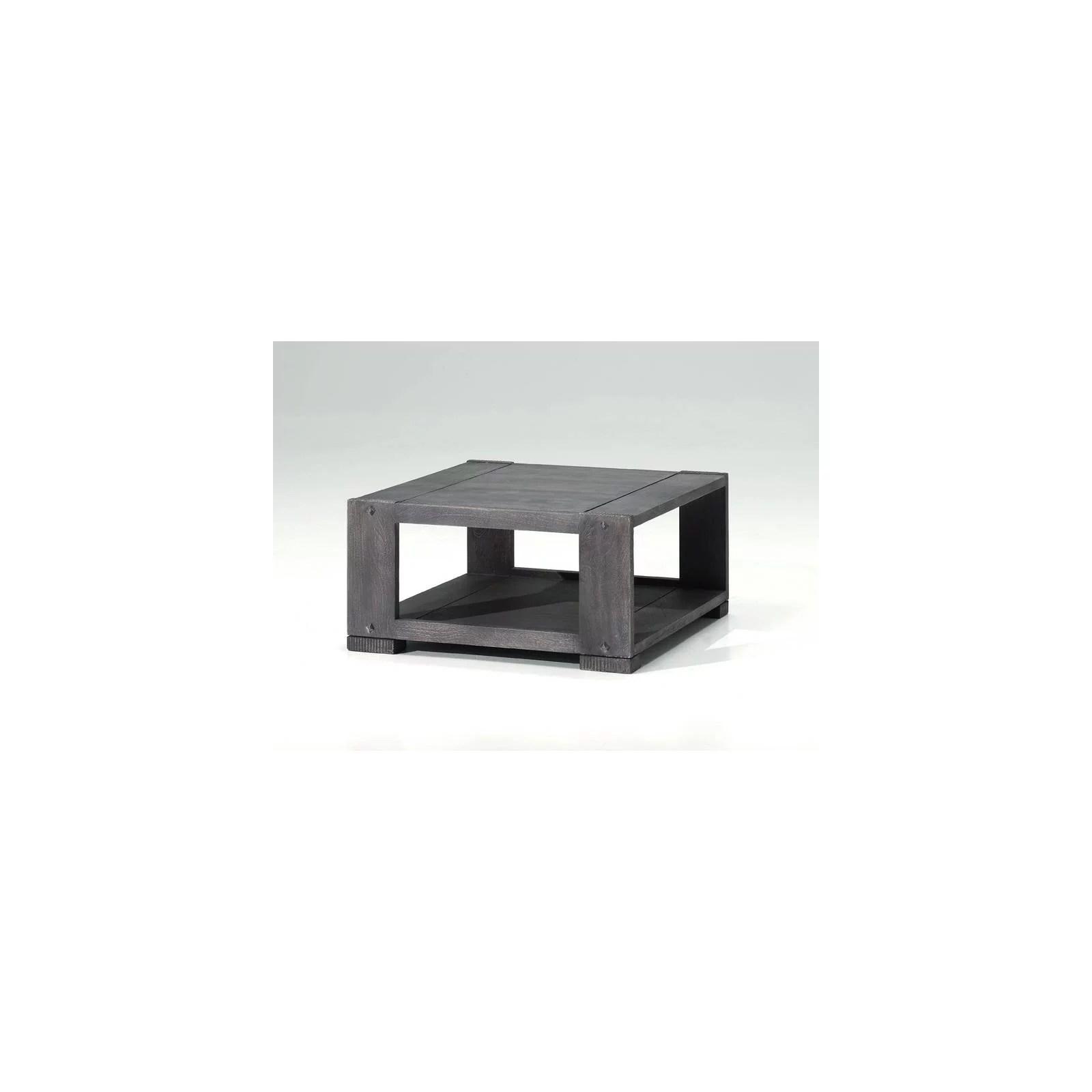 Table basse carrée en manguier Goa  déco exotique