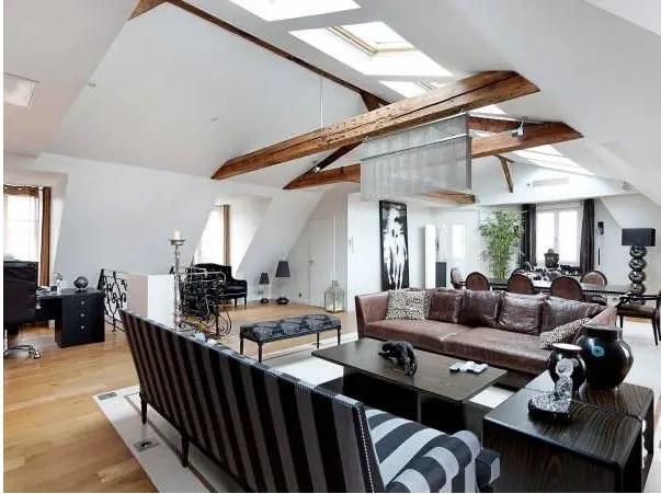 Un appartement sous les toits de paris planete deco a homes world - Deco klein appartement ...