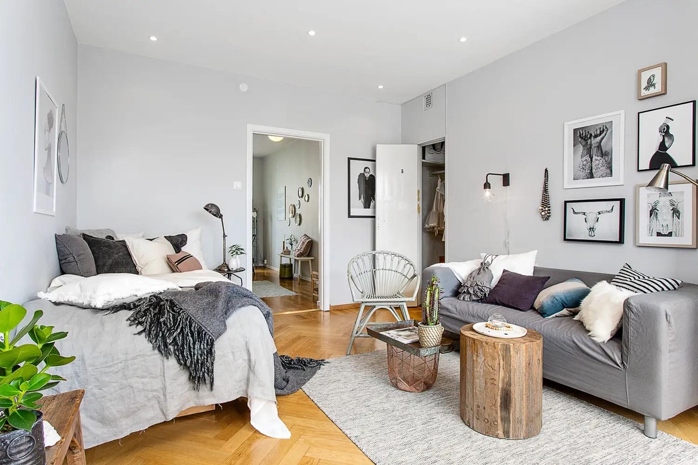 les petites surfaces du jour un studio entre industriel. Black Bedroom Furniture Sets. Home Design Ideas
