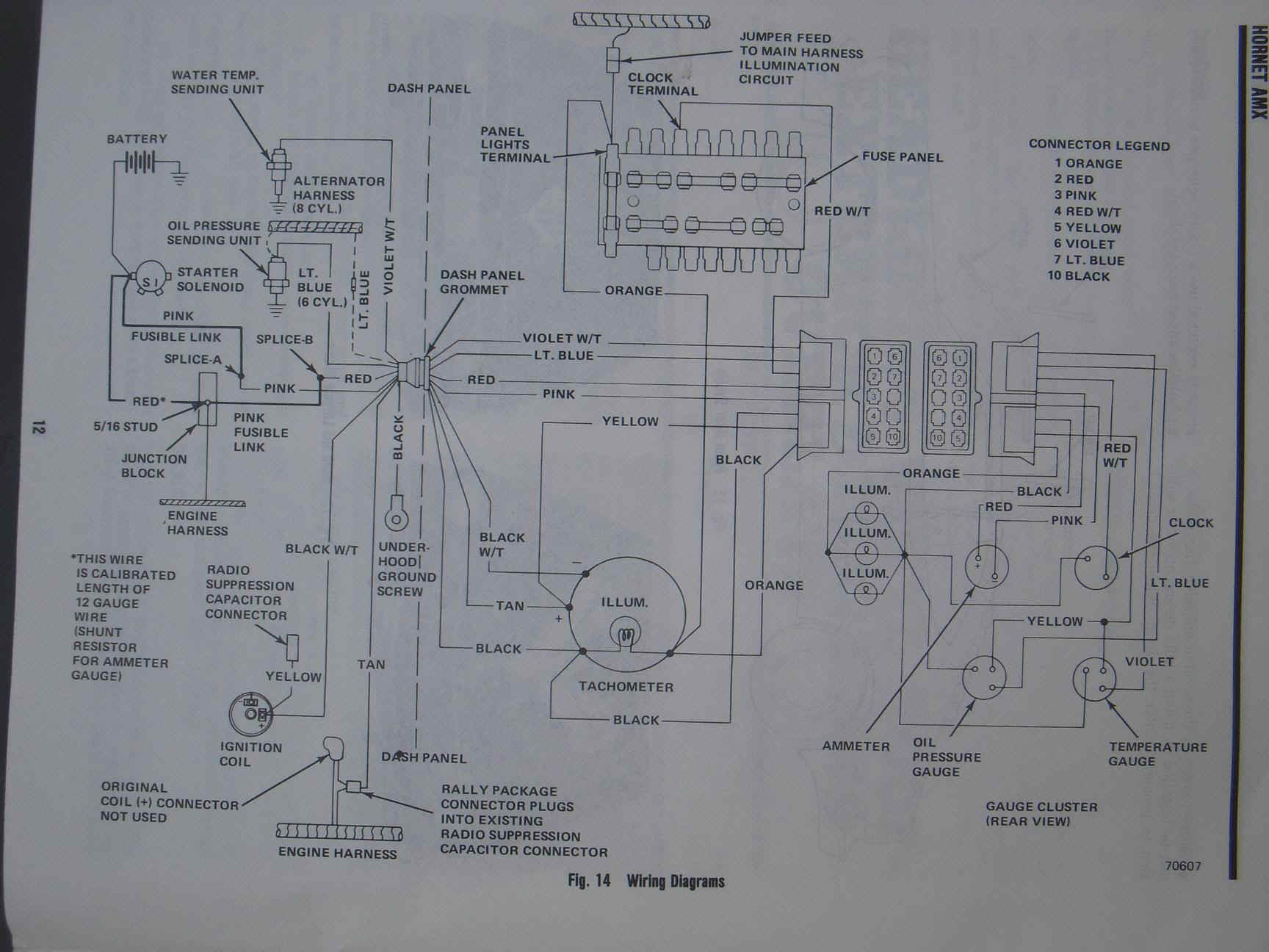 Hornet Wire Diagram Wiring Schematics Avital 4111 1977 Amc Auto Electrical Origami Dinosaurs With Teeth