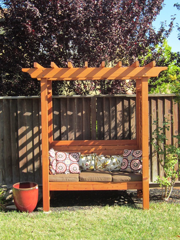 Ana White Build a Outdoor Bench with Arbor Free and Easy DIY - fresh blueprint for building a bench