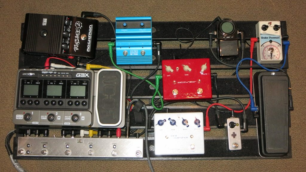 wiring a guitar pedal board