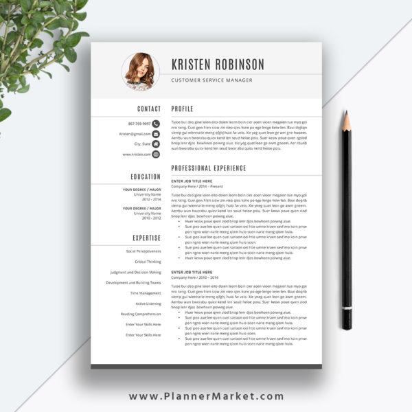 Unique Resume Template, CV Template, Professional Simple Resume