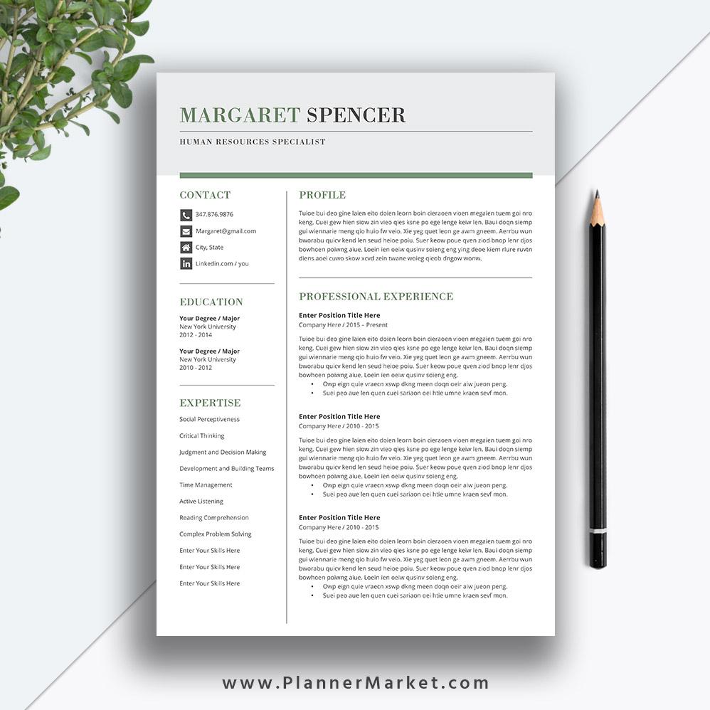 simple effective resume template