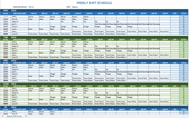 8 Hour Shift Schedule Template planner template free