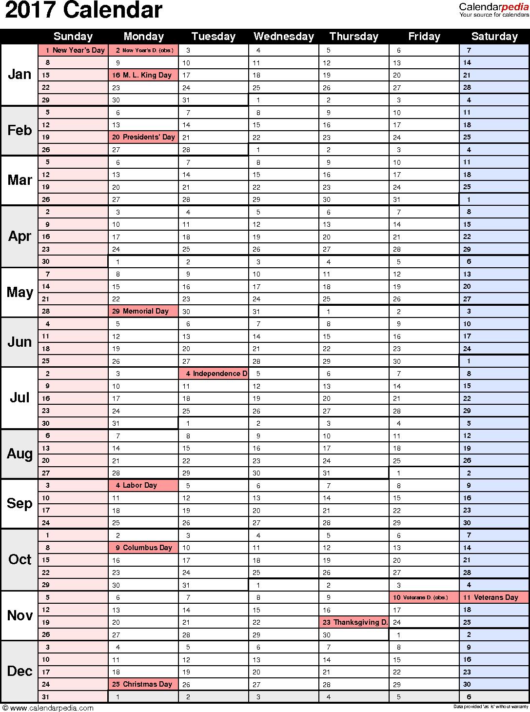 one week calendar template excel