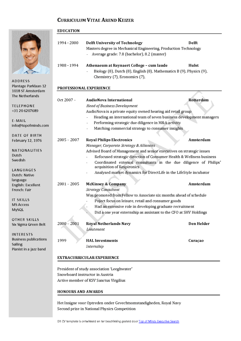 resume sample format pdf file