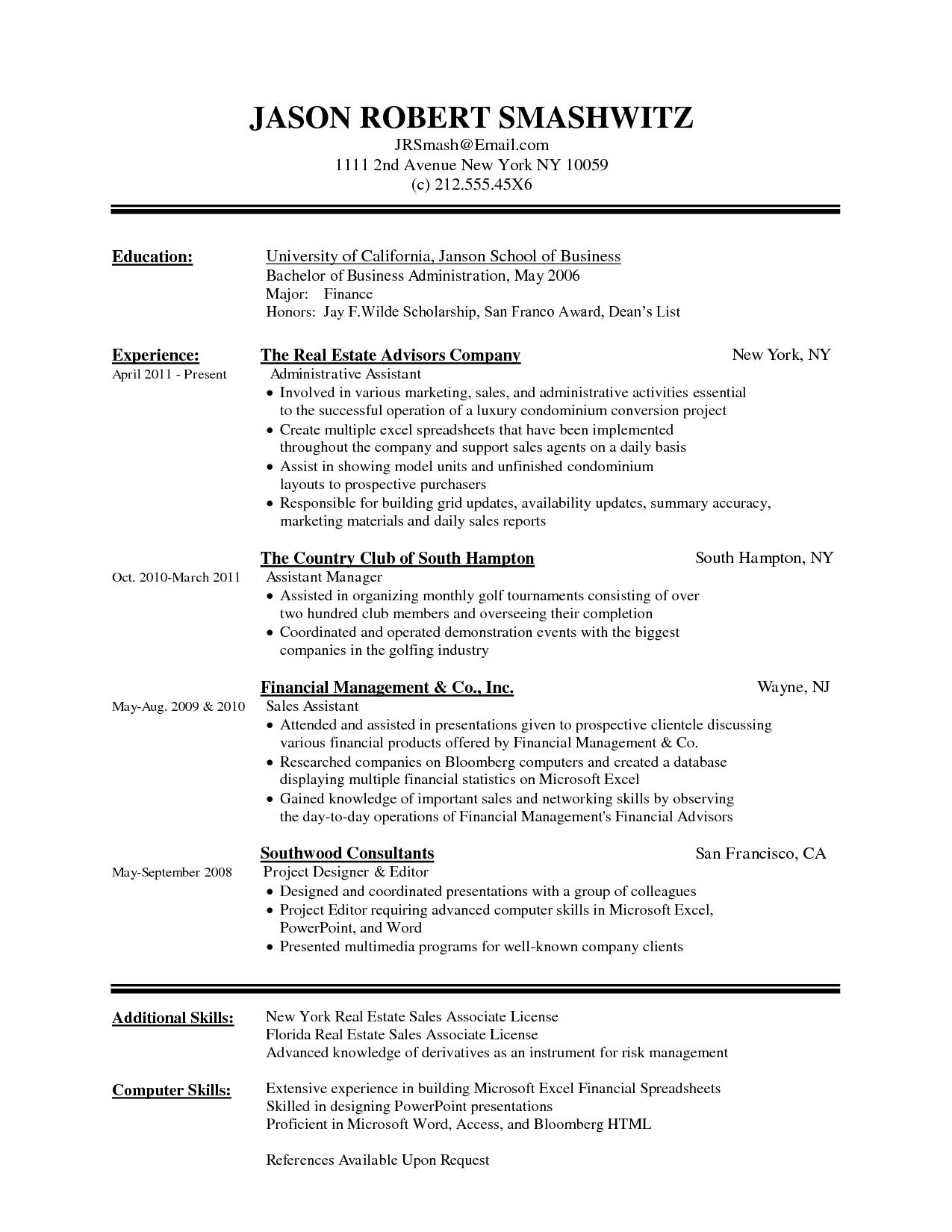 canadian resume format doc
