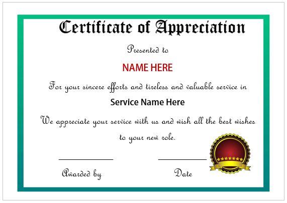 employee appreciation certificates