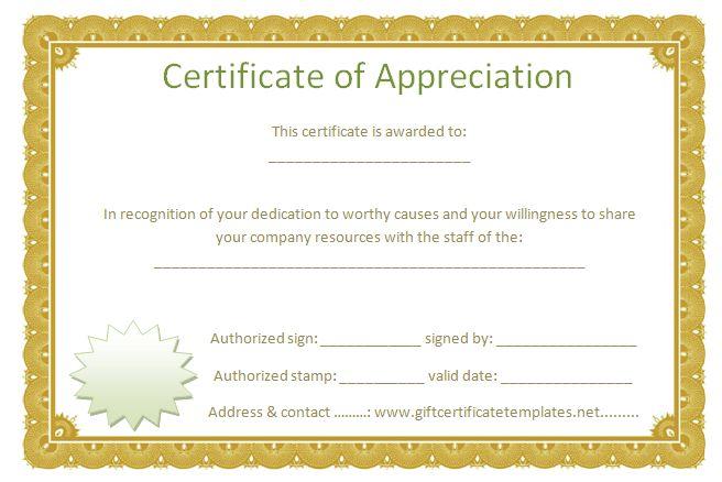 free appreciation certificate templates hitecauto - certificates templates free