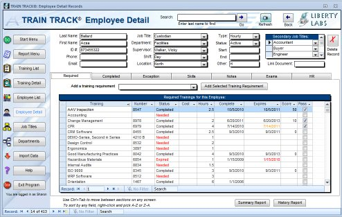 employee training tracking template access - Acurlunamedia - tracking training