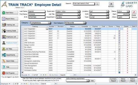 Employee Training Log Template Excel - tracking training