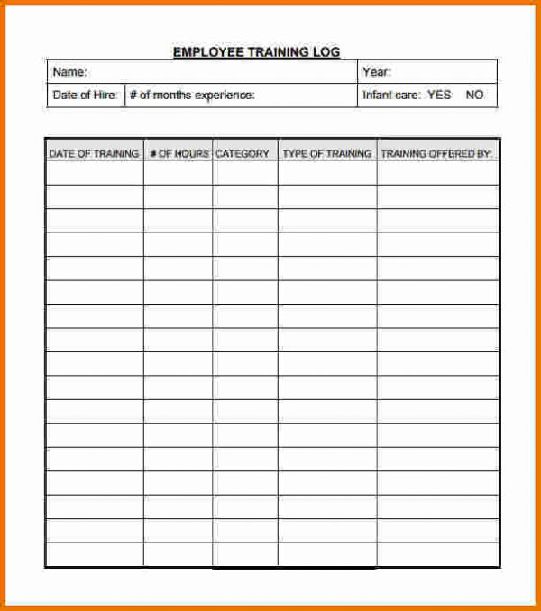 Employee Training Record Template Excel planner template free