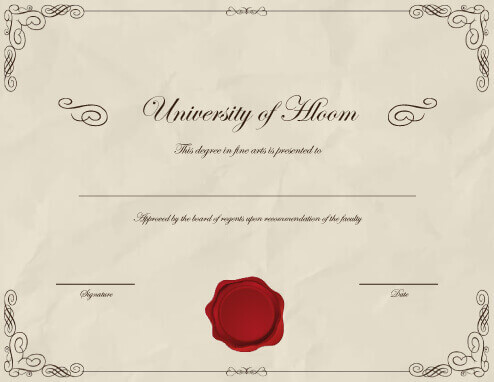 Fake Diploma Certificate Free Download planner template free