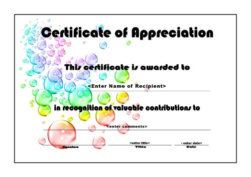 Free Printable Certificates For Students planner template free