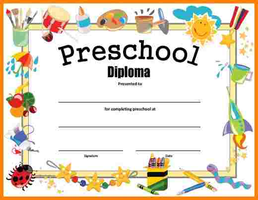 free printable preschool certificates - Ozilalmanoof - graduation certificate template free