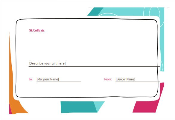 Gift Voucher Template Word Free Download planner template free