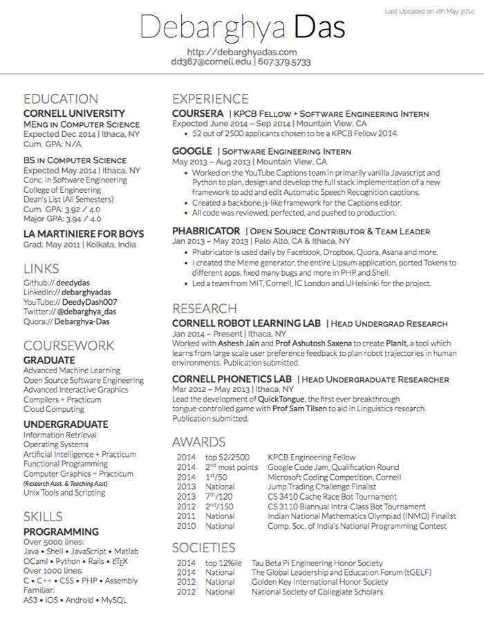 resume latex file
